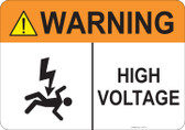 Warning High Voltage #53-717 thru 70-717
