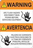 Warning Arc Flash Hazard #53-720 thru 70-720