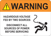Warning Hazardous Voltage #53-726 thru 70-726