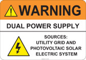 Warning Dual Power Supply #53-729 thru 70-729