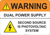 Warning Dual Power Supply #53-730 thru 70-730