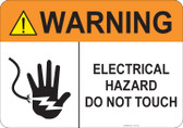 Warning Electrical Hazard #53-733 thru 70-733