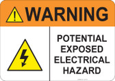 Warning Electrical Hazard #53-734 thru 70-734