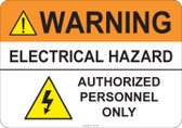 Warning Electrical Hazard #53-736 thru 70-736