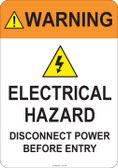 Warning Electrical Hazard  #53-740 thru 70-740