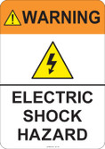 Warning Electric Shock Hazard  #53-744 thru 70-744