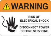 Warning Risk of Electrical Shock #53-745 thru 70-745