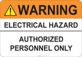 Warning Electrical Hazard #53-738 thru 70-738