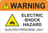 Warning Electric Shock Hazard #53-742 thru 70-742