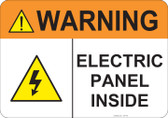 Warning Electric Panel Inside #53-746 thru 70-746