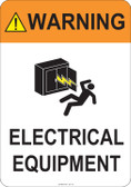 Warning Electrical Equipment  #53-751 thru 70-751