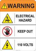 Warning Electrical Hazard  #53-811 thru 70-811
