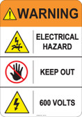 Warning Electrical Hazard  #53-815 thru 70-815