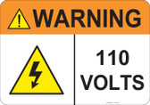 Warning 110 Volts, #53-831 thru 70-831