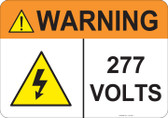 Warning 277 Volts, #53-833 thru 70-833