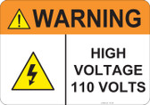 Warning High Voltage, #53-836 thru 70-836