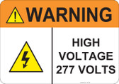 Warning High Voltage, #53-838 thru 70-838