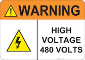 Warning High Voltage, #53-839 thru 70-839