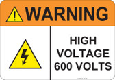 Warning High Voltage, #53-840 thru 70-840