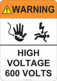 Warning High Voltage, #53-845 thru 70-845