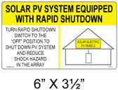 Solar Sign - SOLAR PV SYSTEM EQUIPPED WITH RAPID SHUTDOWN - Item #07-111