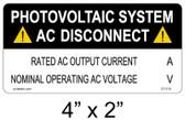 PV Solar AC Disconnect - .040 Aluminum - Item #07-210