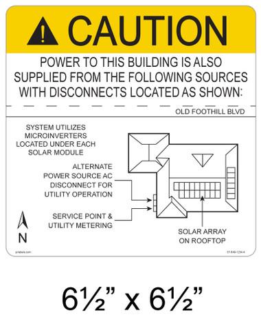 "Solar Map Sign - 6.5"" x 6.5"" - Item #07-649"