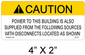 "Solar Warning Label - 4"" X 2"" - Item #05-221"