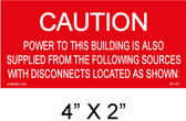 "Solar Warning Placard - 4"" x 2"" - Item #04-221"