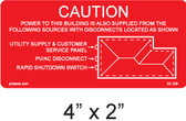 PV Labels - Solar Warning Label - #03-226