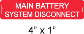 Main Battery System Disconnect - Item #03-304