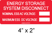 Energy Storage System Disconnect Label - write in - Item #03-512