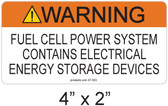 Warning Fuel Cell Power System - .040 Aluminum - Item #07-503