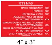 PV Labels - Custom Placard #04-600