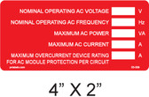 AC Rating Label with Write In - Item #03-309