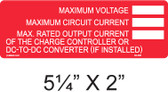 Voltage and Current Rating with Write In - Item #03-308