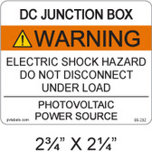"PV Solar Warning Label - 2.75"" x 2.25"" - ANSI - Item #05-232"