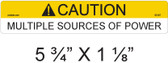 Caution Multiple Sources of Power - Item #05-307