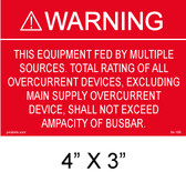 "Solar Warning Placard - 4"" x 3"" - Item #04-108"