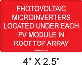 Photovoltaic Microinverters Label - Item #03-112