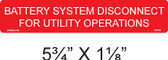 Battery System Disconnect for Utility Operations - Item# 03-310