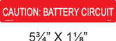 Caution Battery Circuit - Item# 03-311