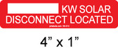 kW Solar Disconnect Located - Item #03-312