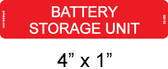 Battery Storage Unit Label - Item #03-368