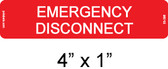 Emergency Disconnect Label - Item #03-396