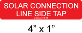 Solar Connection Line Side Tap Label - Item #03-403