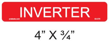Inverter Label - Item 03-375