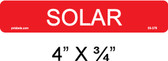 Solar Label - Item 03-376
