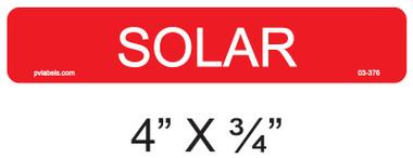 Solar Label - Item 03-376