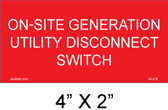On Site Generation Utility Disconnect Switch,  04-428